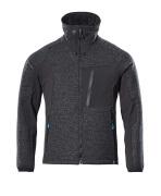 17105-309-09 Stickad jacka med blixtlås - svart