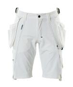 17149-311-06 Shorts med hängfickor - vit