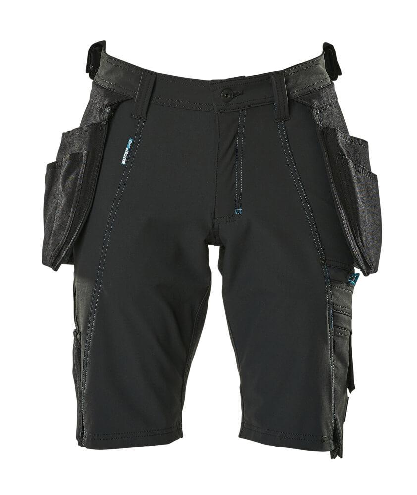 17149-311-09 Shorts med hängfickor - svart