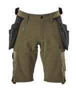 17149-311-33 Shorts med hängfickor - mossgrön
