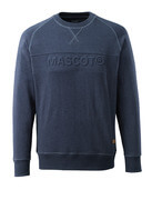 17184-830-66 Sweatshirt - tvättad mörk blå denim