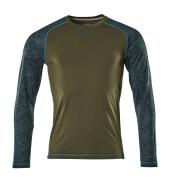 17281-944-33 T-shirt, långärmad - mossgrön