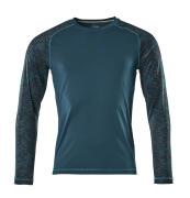 17281-944-44 T-shirt, långärmad - mörk petroleum