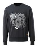 17284-280-73 Sweatshirt - svart denim