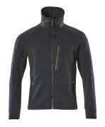 17484-319-09 Sweatshirt med blixtlås - svart