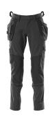 18031-311-09 Byxor med knä- och hängfickor - svart