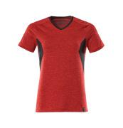 18092-801-20209 T-shirt - signalröd-melerat/svart