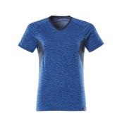 18092-801-91010 T-shirt - azurblå-melerat/mörk marin