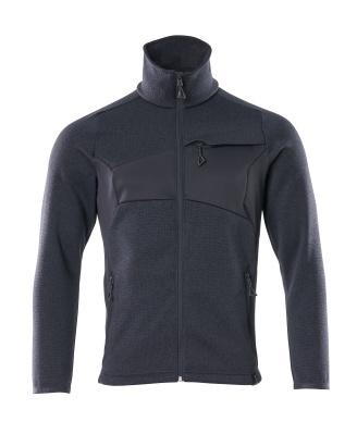 18105-951-010 Stickad tröja med blixtlås - mörk marin