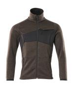 18105-951-1809 Stickad tröja med blixtlås - mörk antracit/svart