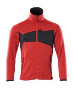 18105-951-20209 Stickad tröja med blixtlås - signalröd/svart