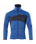 18105-951-91010 Stickad tröja med blixtlås - azurblå/mörk marin
