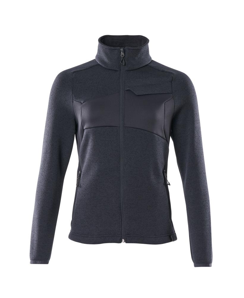 18155-951-010 Stickad tröja med blixtlås - mörk marin