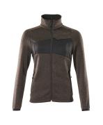 18155-951-1809 Stickad tröja med blixtlås - mörk antracit/svart