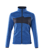 18155-951-91010 Stickad tröja med blixtlås - azurblå/mörk marin