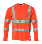 18281-995-14 T-shirt, långärmad - hi-vis orange