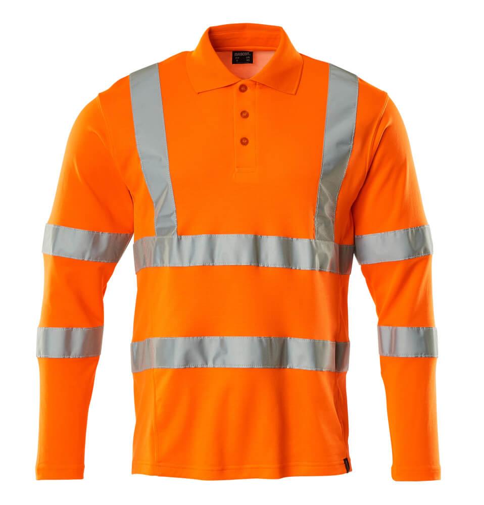18283-995-14 Pikétröja, långärmad - hi-vis orange