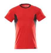 18382-959-20209 T-shirt - signalröd/svart