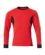 18384-962-20209 Sweatshirt - signalröd/svart