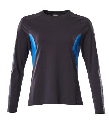 18391-959-01091 T-shirt, långärmad - mörk marin/azurblå