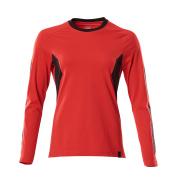 18391-959-20209 T-shirt, långärmad - signalröd/svart