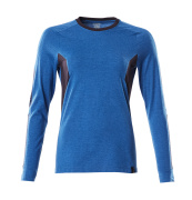 18391-959-91010 T-shirt, långärmad - azurblå/mörk marin
