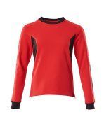 18394-962-20209 Sweatshirt - signalröd/svart