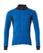 18484-962-01091 Sweatshirt med blixtlås - mörk marin/azurblå