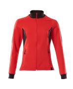 18494-962-20209 Sweatshirt med blixtlås - signalröd/svart