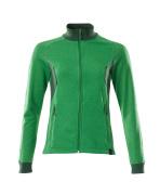 18494-962-33303 Sweatshirt med blixtlås - gräsgrön/grön