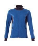 18494-962-91010 Sweatshirt med blixtlås - azurblå/mörk marin