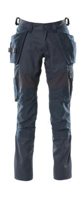18531-442-010 Byxor med knä- och hängfickor - mörk marin