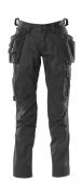 18531-442-09 Byxor med knä- och hängfickor - svart