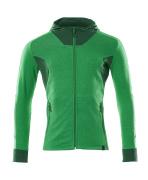 18584-962-33303 Huvtröja med blixtlås - gräsgrön/grön