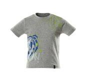 18982-965-08 T-shirtar till barn - grå-melerat