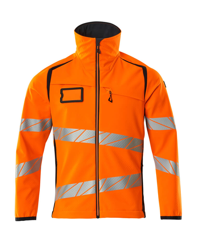 19002-143-14010 Softshelljacka - hi-vis orange/mörk marin