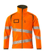 19002-143-1433 Softshelljacka - hi-vis orange/mossgrön