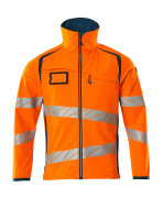 19002-143-1444 Softshelljacka - hi-vis orange/mörk petroleum