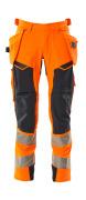 19031-711-14010 Byxor med hängfickor - hi-vis orange/mörk marin