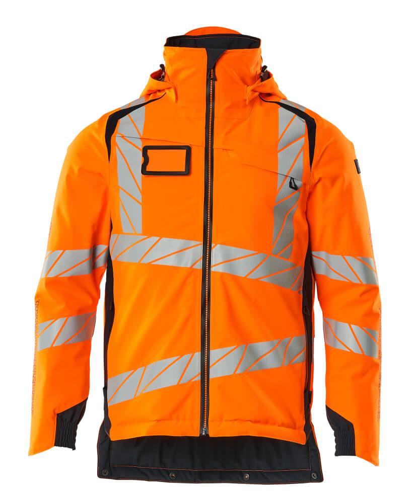 19035-449-14010 Vinterjacka - hi-vis orange/mörk marin