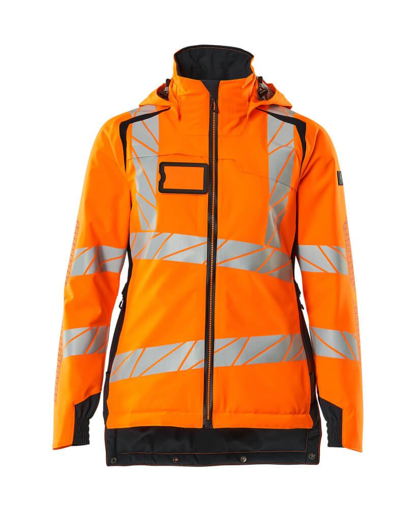 19045-449-14010 Vinterjacka - hi-vis orange/mörk marin