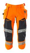 19049-711-14010 Piratbyxor med hängfickor - hi-vis orange/mörk marin
