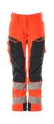 19078-511-14010 Byxor med knäfickor - hi-vis orange/mörk marin