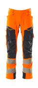 19079-511-14010 Byxor med hängfickor - hi-vis orange/mörk marin