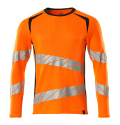 19081-771-14010 T-shirt, långärmad - hi-vis orange/mörk marin
