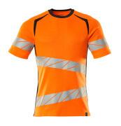 19082-771-14010 T-shirt - hi-vis orange/mörk marin