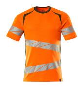 19082-771-1433 T-shirt - hi-vis orange/mossgrön