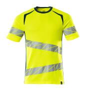 19082-771-1744 T-shirt - hi-vis gul/mörk petroleum