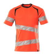 19082-771-22210 T-shirt - hi-vis röd/mörk marin