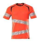 19082-771-22218 T-shirt - hi-vis röd/mörk antracit